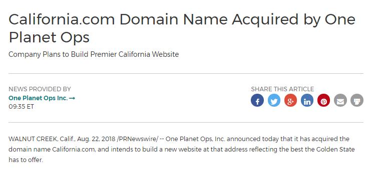 外媒;加州富豪百万美金打包收购10枚好米  域名快讯  第2张