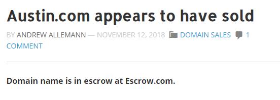 2011年要价70万美金!这枚地方域名被曝疑似易主  域名资讯  第1张