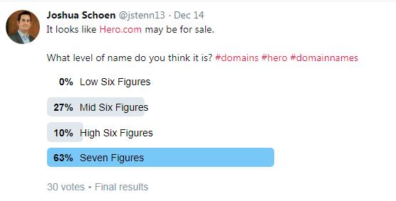 英雄域名hero.com疑似易主?价格或高于7位数美金