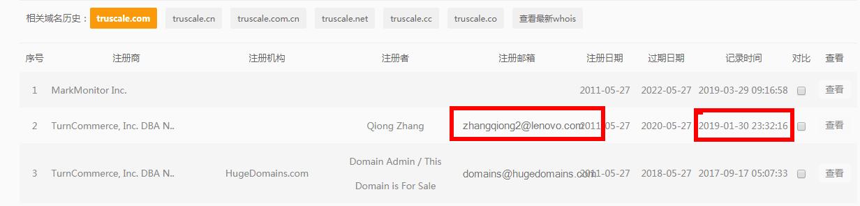 备案域名:为推出全新的订阅服务,联想收购 truscale.com域名