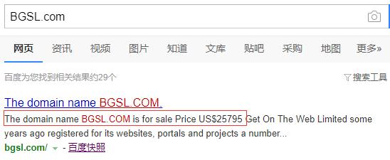 超17万元?黑石集团为子公司收购四声域名BGSL.com